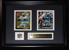 Barry Sanders Detroit Lions 2 card frame