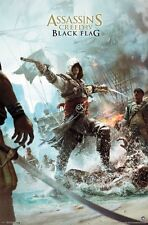 2013 UBISOFT ASSASSINS CREED IV BLACK FLAG BOX COVER POSTER 22x34 FREE SHIPPING