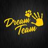 Dream Team Hundesport Agility Pfote Dog Gelb Auto Vinyl Decal Sticker Aufkleber