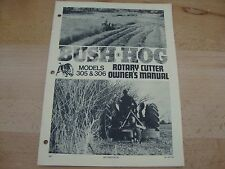 Bush Hog Rotary Cutter Operators Manual models 305 306 owners