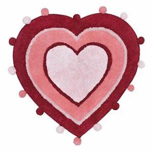 Valentine's Day Red & Pink Heart Shaped Bathroom Bath Kitchen Rug 22x23 NWT