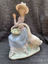 Lladro Figurine (Retired) Sitting Girl With Goose No Repairs Or Faults.