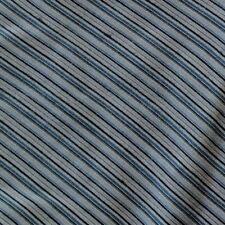 Silver, Blue, Black Stripes Silk Half Ascot Cravat. Hand Made