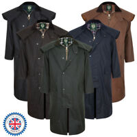 Portmann Mens & Ladies Stockman Long Cape Full Length Wax Jacket Coat & Hood