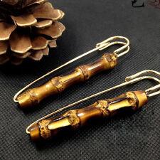 Antique Natural Bamboo Pin Brooch Clothing Clip Fashion Scarf Shawl Decor