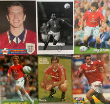 6 X MANCHESTER UNITED SIGNED A4 MAGAZINE PICTURES