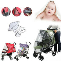Universal Strollers Cover Plastic Wind Shield Pushchairs Rain Shades -