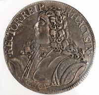 1747, Dalmatia, Ragusa (Republic). Silver Tallero (Ducat et Sem) Coin. NGC XF+