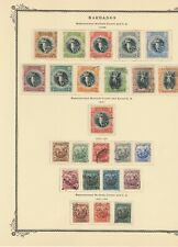 Barbados used range 1920-1924 on Scott specialty page