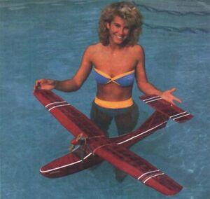 "Model Airplane Plans (RC): SHOWBOAT 46"" Floatplane for Electric by Ken Willard"