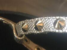 Claudia Ciuti Women's Block-heel Metallic silver Sandals size 9.5 Italy T-Strap