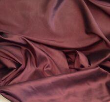 Italian Designer Faux Silk Taffeta Curtain Dress Fabric Soft Grape 20 Metre Roll