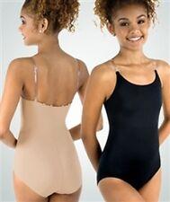 Body Wrappers UNDER WRAPS Nude Leotard with clear straps, New, Size XXL, 2X