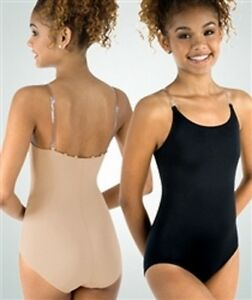 Body Wrappers UNDER WRAPS Nude Leotard with clear straps, New, Size XXL, 2X