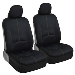 Waterproof Sideless Seat Cover Set Headrest Covers Beige Stitching Car Truck SUV