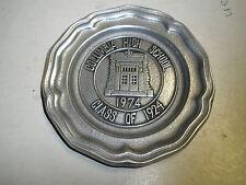 "1974 Wilton mini 4.5"" round plate Columbia High School PA Class of 1924"