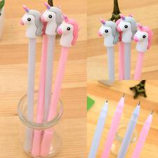 2pcs Cute Unicorn Gel Pen Black Ink Pen Kawaii Stationery School Office Supplies