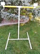 "1"" Wrapped PVC Parrot  FLOOR PERCH  STAND w bowels Macaw size FREE SHIPPING!"