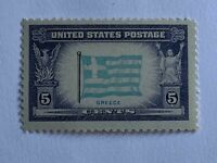 VINTAGE STAMP💎1943💎5 cent Overrun Countries: Flag of Greece #916💎