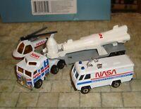 MATCHBOX CONVOY - NASA - 3 PIECE SET INC ROCKET TRANSPORTER /HELICOPTER/COMMAND
