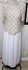 OFF WHITE BEADED CHURCH COCKTAIL PALAZZO  SKIRT SUIT SEPARATE 1X-2X PLUS NWOT