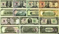 Lot Set Training Banknoten Dollars USA aus China $ 1,2,5,10,20,50,100 UNC SELTEN