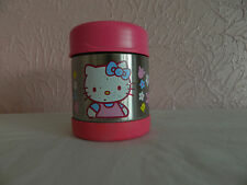 Thermos Hello Kitty Hot And Cold Food Pink Silver 12 Oz. Flowers Lunchbox