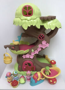 ELC Happyland Fairy Tree House with figures and Snail Carriage.