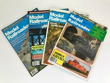 4 issues of Model Railroader Magazine 1978 1980 1987 1988