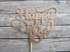 Happy 18th Cake Topper - ROSE GOLD Eighteen birthday topper, decor