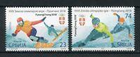 Serbia 2018 MNH Pyeongchang Winter Olympics 2v Set Snowboarding Sports Stamps