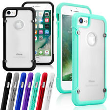 Para Apple iPhone 7 8 Plus Carcasa Cubierta Protectora De Goma De Silicona Transparente TPU Parachoques