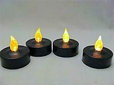 Group of 4 Wicca Pagan Black Dark Magick LED Tealight Candles - FREE SHIPPING