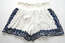 MADE Fashion Week for Impulse Size XL Wide Leg Pull On Shorts White with Blue