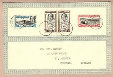 Ascension Is 1936 GV Airmail Cover to UK (front of cover only)