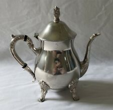 ORNATE VINTAGE SILVER PLATE 6 CUP COFFEE POT - USED ONCE OR TWICE
