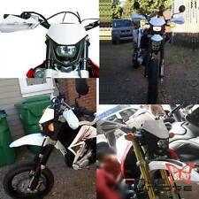 White Motorcycle Street Fighter Dirt Bike Headlight Lamp For Honda Suzuki Yamaha