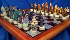 KING ARTHUR GUINEVERE MERLIN DRAGON & CAMELOT CASTLE CHESS SET - VERONESE DESIGN