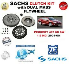 FOR PEUGEOT 407 6D SW 1.6 HDi 110 SACHS CLUTCH KIT 2004-ON w FLYWHEEL & BOLTS
