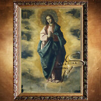 D140 Catholic Christian Holy Religion Framed Painting Picture Jesus Christ M