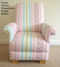 Laura Ashley Clementine Stripe Fabric Childs Chair Armchair Nursery Bedroom Kids
