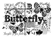 Woodware clear singles acrylic stamp - Butterfly Collage