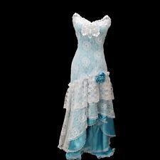 Vtg Loralie Original XS Mint Lace Strapless Gown Dress Southern Belle Costume