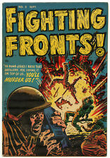 Fighting Fronts #2 War Comic Golden Age Extreme Violence Harvey 1952