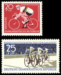 EBS East Germany DDR 1960 Cycling Championships Michel 779-780 MNH**