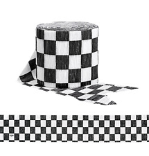Checkered Flag Crepe Party Streamers