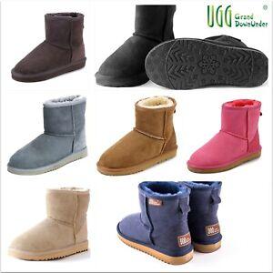 "UGG Ultra Short Boots(6""+) Australian Shearing Sheepskin Premium Unisex 9 Color"