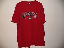 New Men's QUICKSIVER logo Extra Large Red QKSLVR T-Shirt