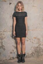 Size 10 AJE Mini Little Black Dress Lady Fairfax Ebony $350rrp Cotton LBD