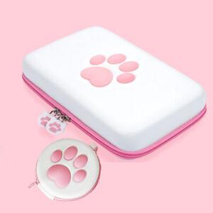 Kawaii Carrying Cat Paw Logo Case Storage Bag Box For Nintendo Switch / Lite CBY